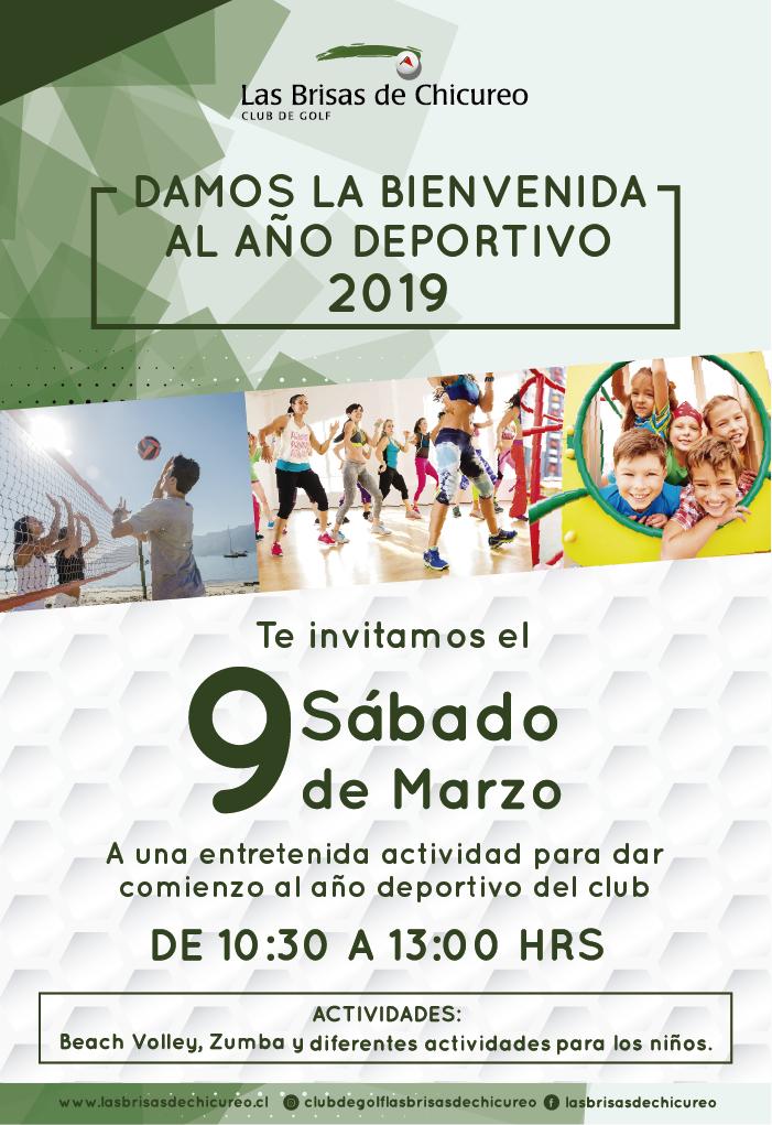 Damos la bienvenida año deportivo 2019