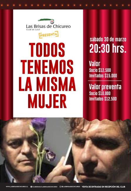 """Teatro en el Club Las Brisas """"Todos tenemos la misma mujer"""""""