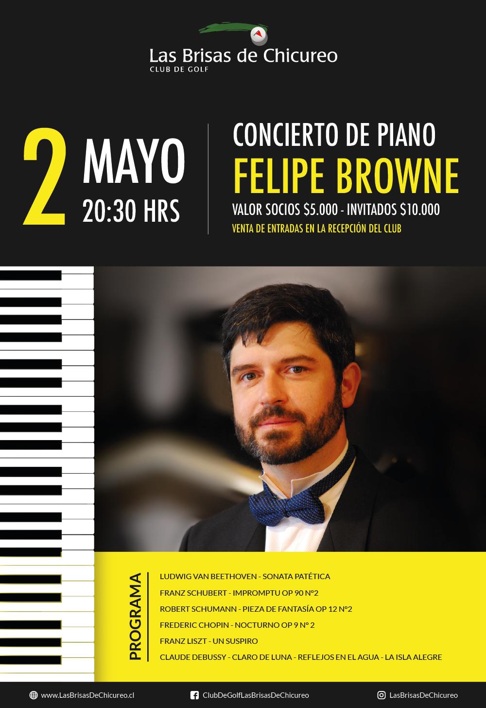 Concierto de Piano Felipe Browne